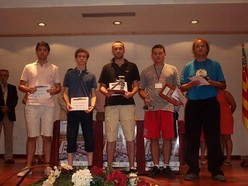 Campeonatos de España. Campeonato Absoluto de Ajedrez Rápido 2013. Podio