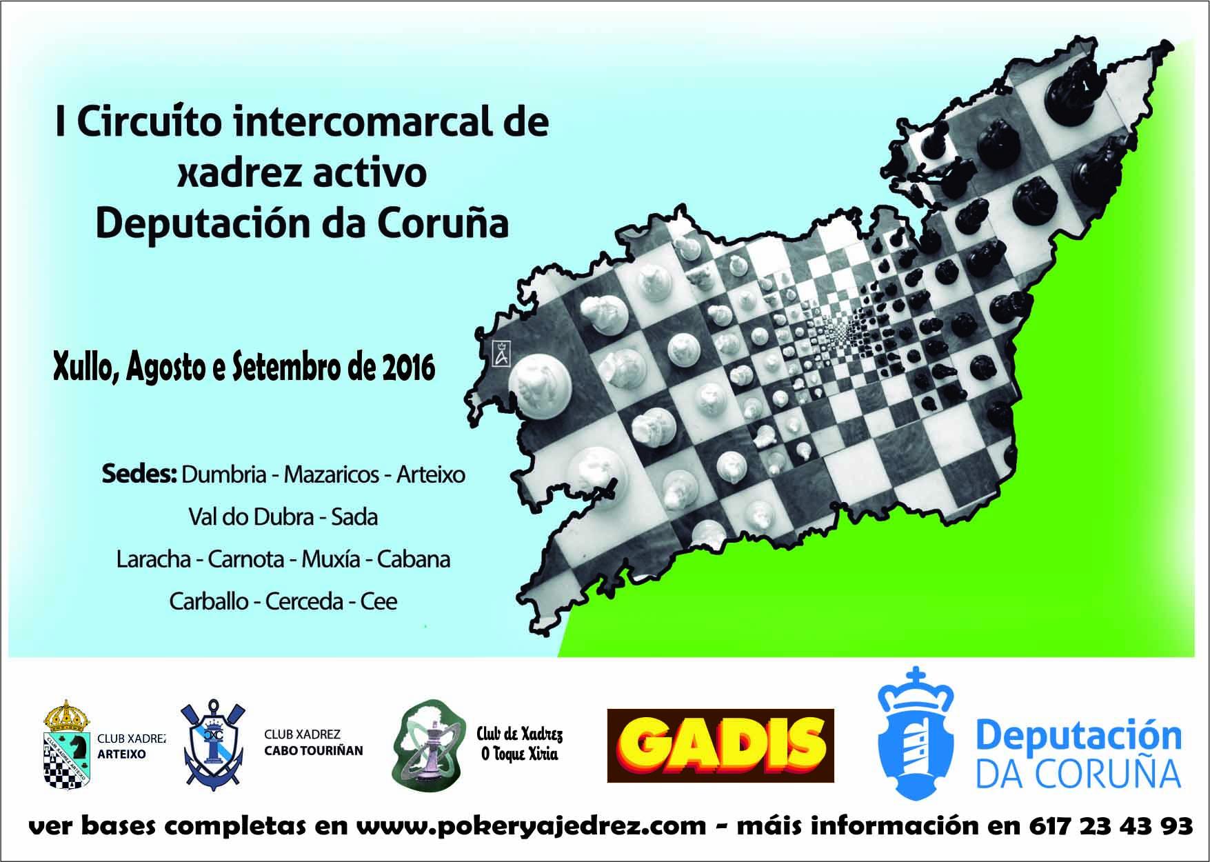 I Circuito Intercomarcal de xadrez Deputación de A Coruña