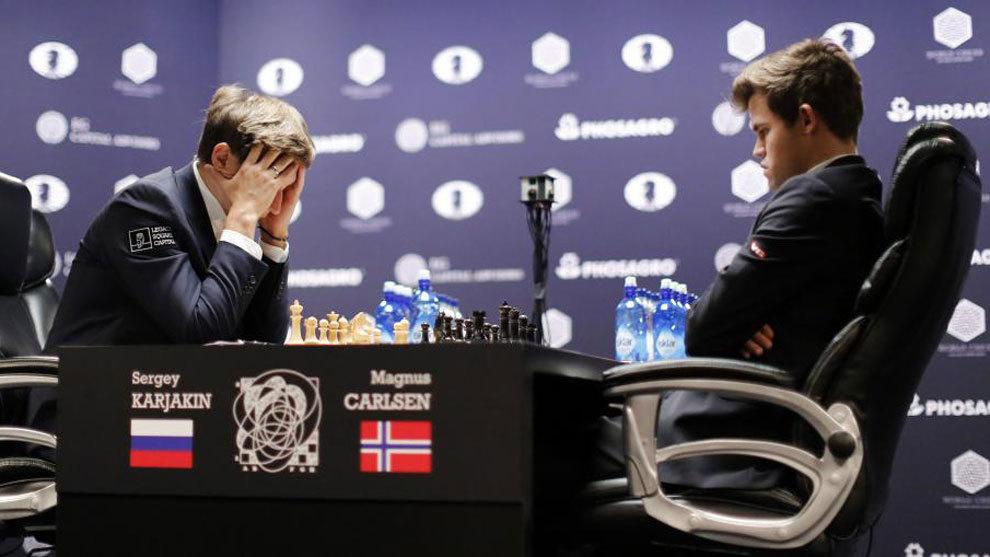 Resultado de imagen de karjakin-Carlsen 11a partida