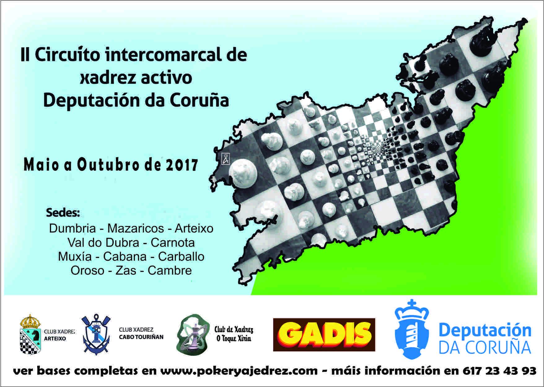 II Circuito Intercomarcal de xadrez Deputación de A Coruña