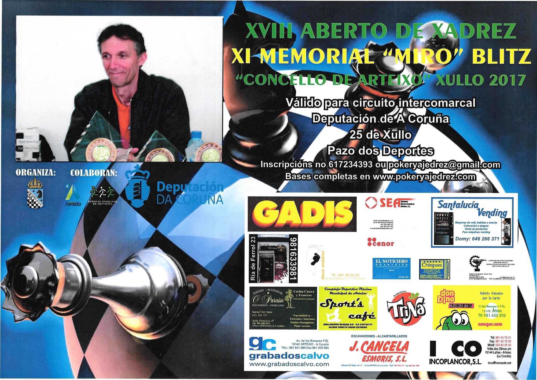 XVIII Aberto Concello de Arteixo - XI Memorial Miro blitz