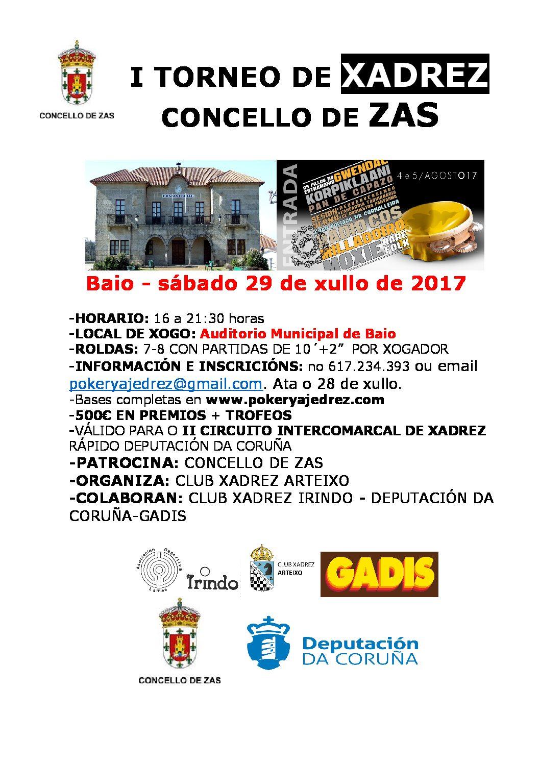 I Torneo de xadrez Concello de Zas - IV proba do II Circuito intercomarcal