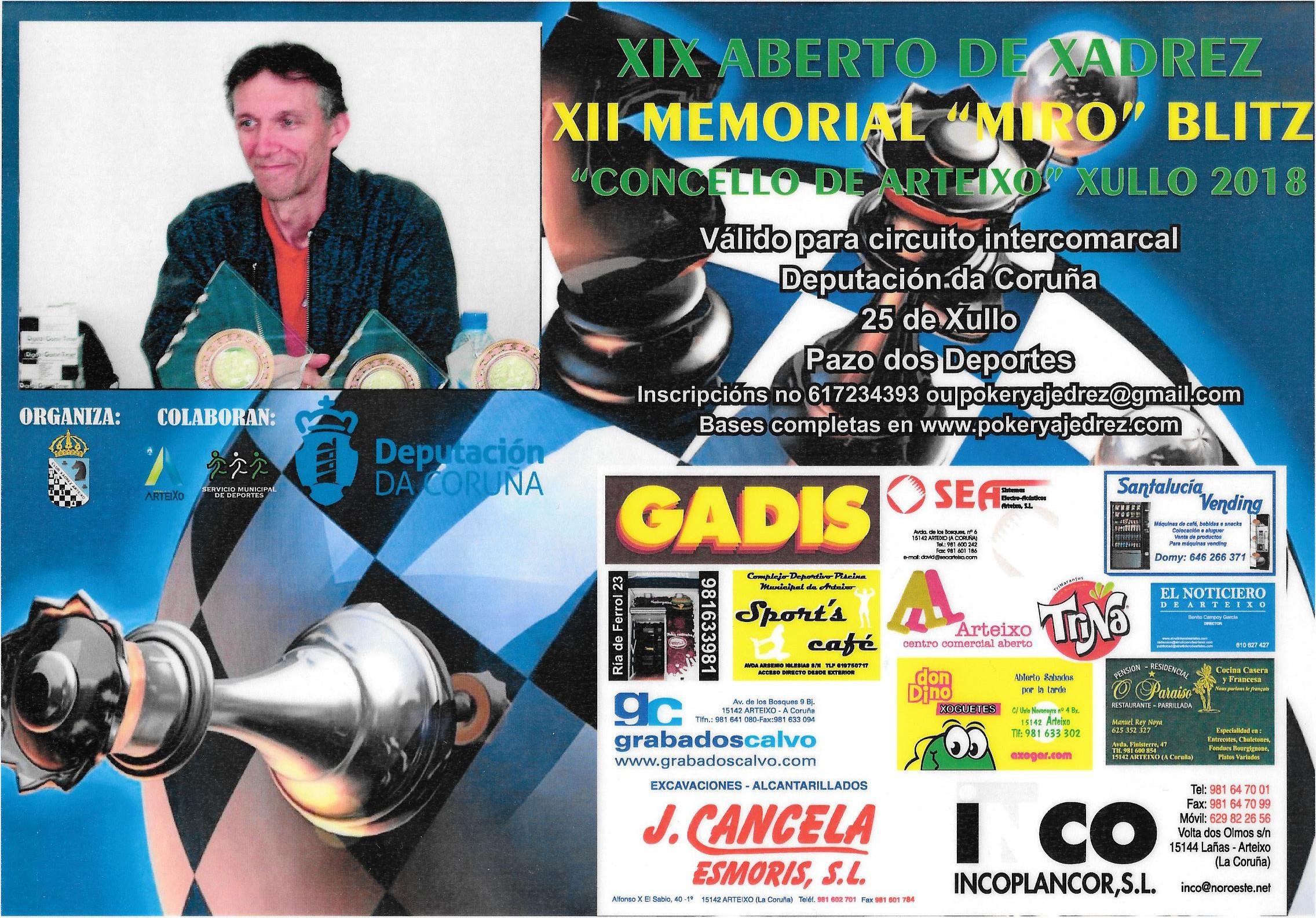 XII Memorial Miro - XIX Aberto Arteixo