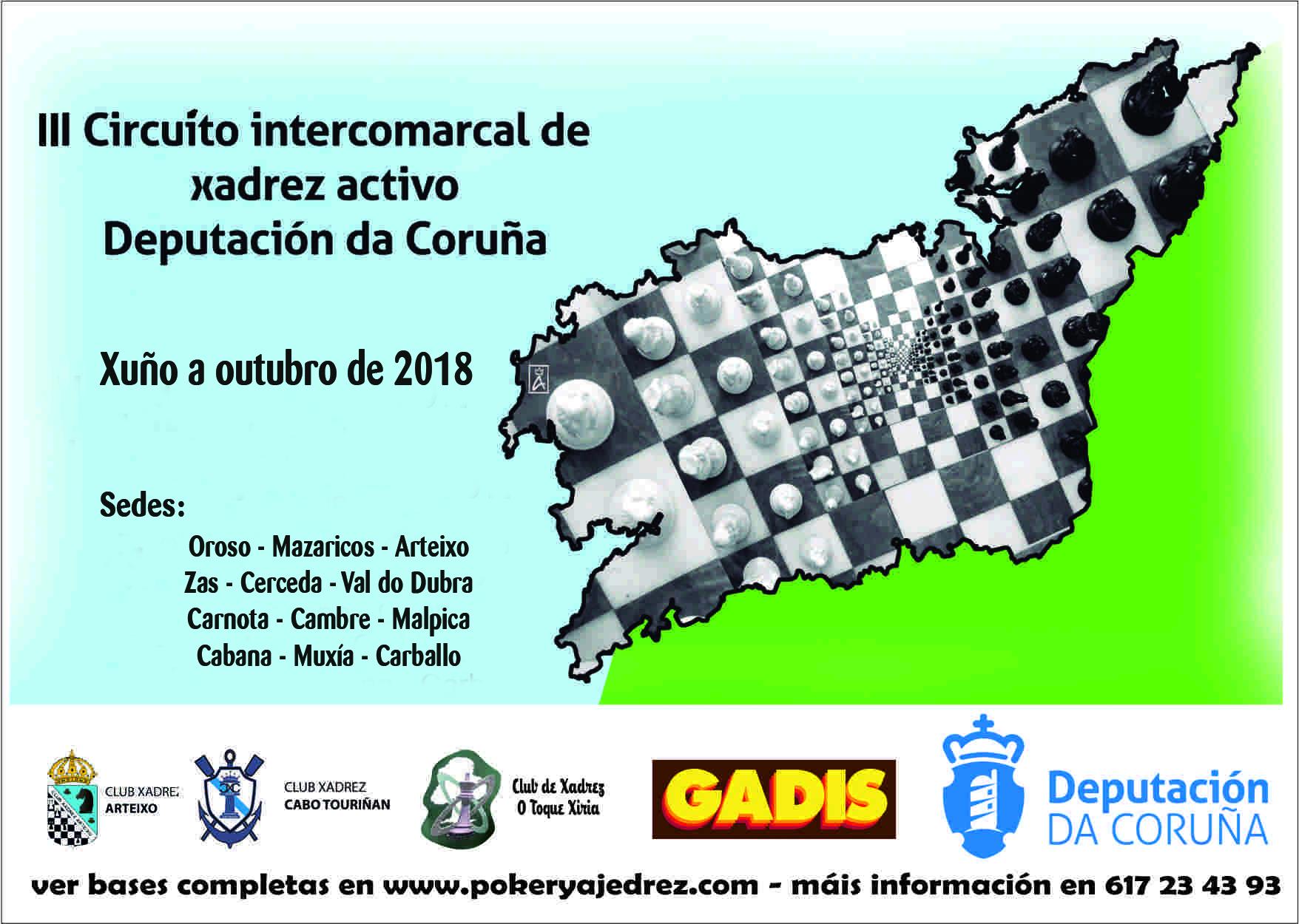 III Circuito Intercomarcal de xadrez Deputación de A Coruña