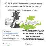 II Torneo Clásico Concello de Carballo del 6 al 9 de diciembre