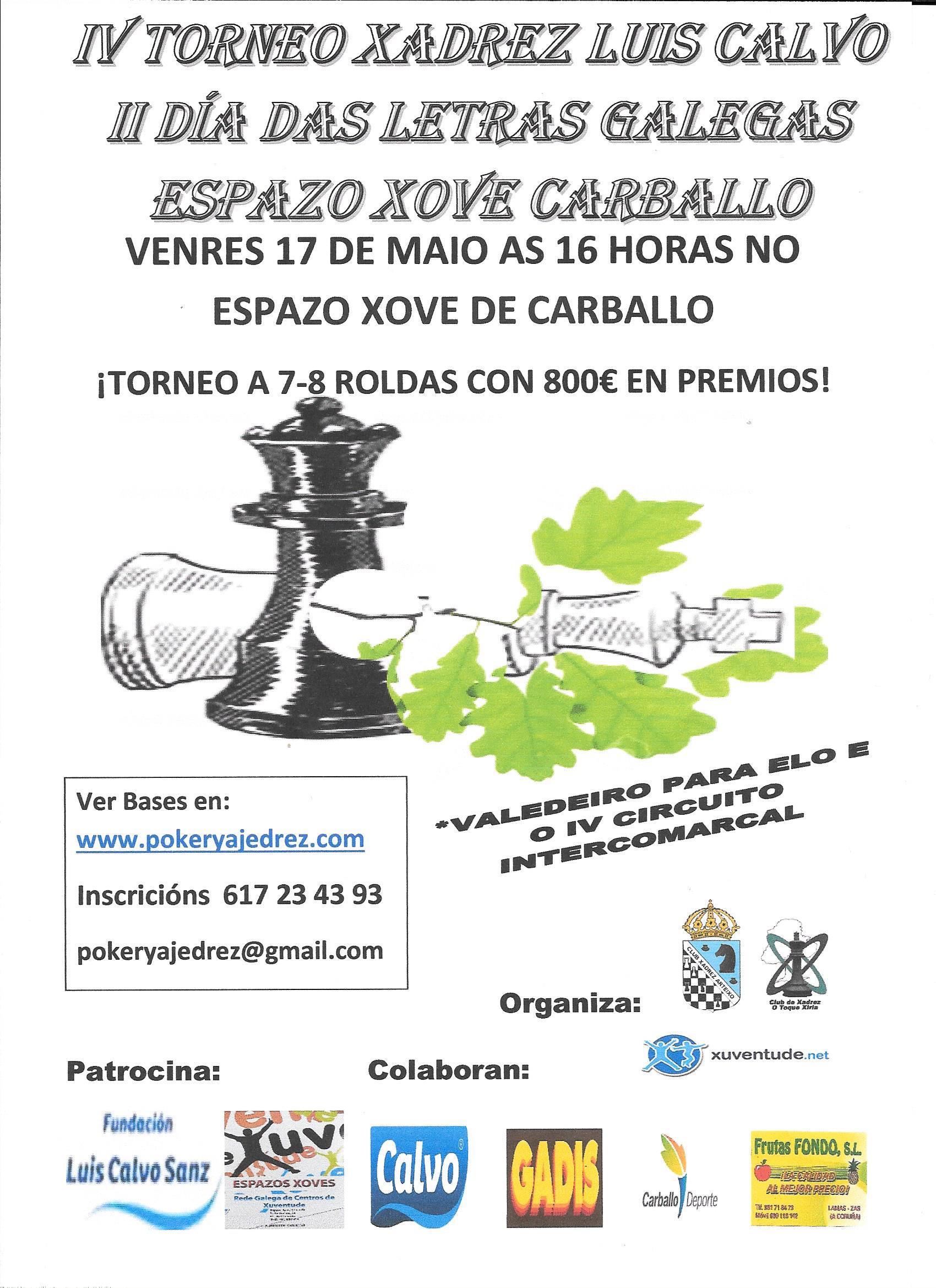 IV Torneo Fundación Calvo - II Dia das Letras Galegas Espazo Xove Carballo