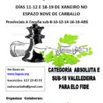 Campionatos Provinciais xadrez A Coruña 2020