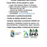 COMEZAN AS CLASES DE XADREZ DO CURSO 2021-22 DO CLUB XADREZ ARTEIXO